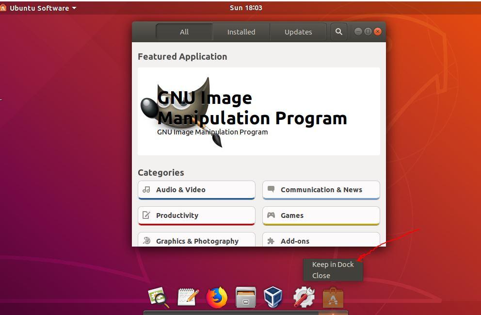 Add programs shortcut to plank dock in Ubuntu