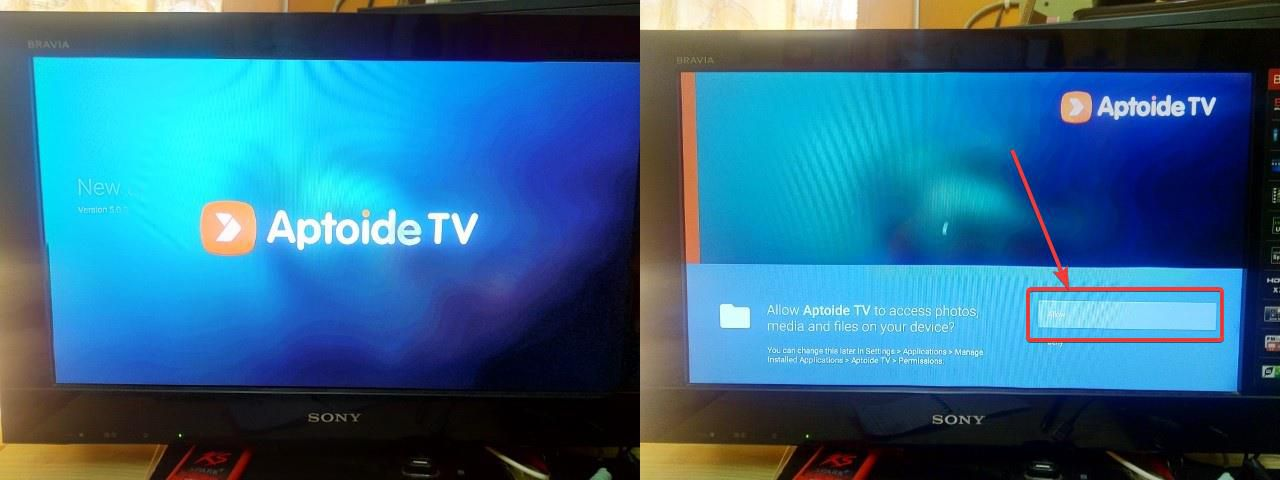 Aptoide app store on Amazon Fire TV