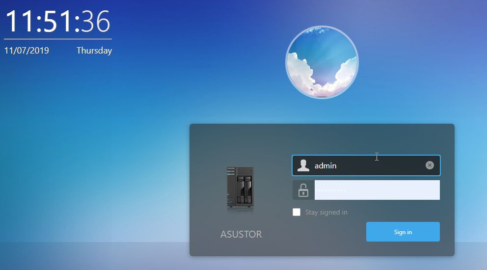 Login Asustor NAS from external network