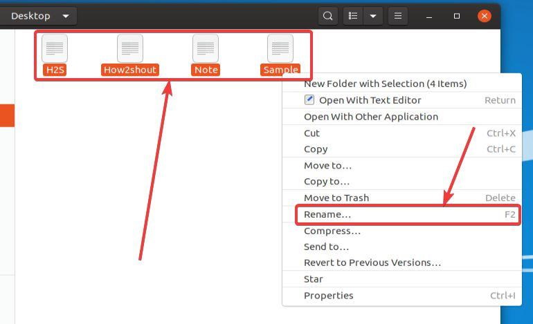 Batch Rename using the default file manager on Ubuntu