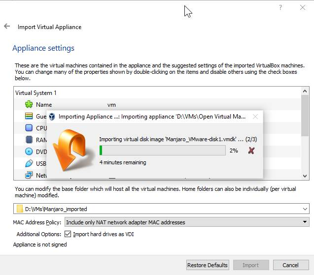 Convert virtual machine from one to another 140