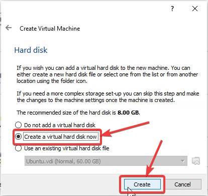 Set Virtual Disk type