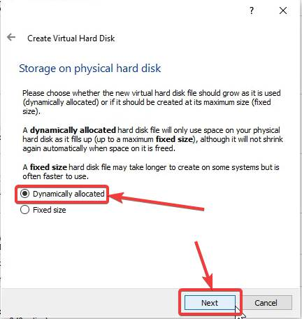 Storage process on the physical hard disk