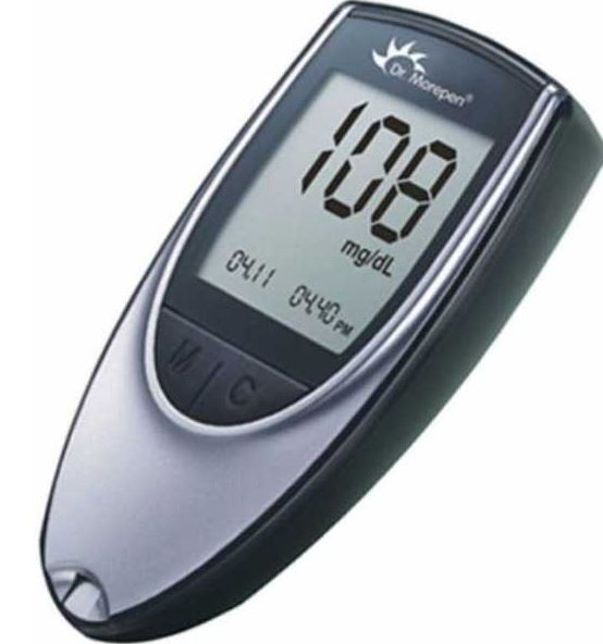 Dr. Morepen BG03 with 100 Glucometer Strips