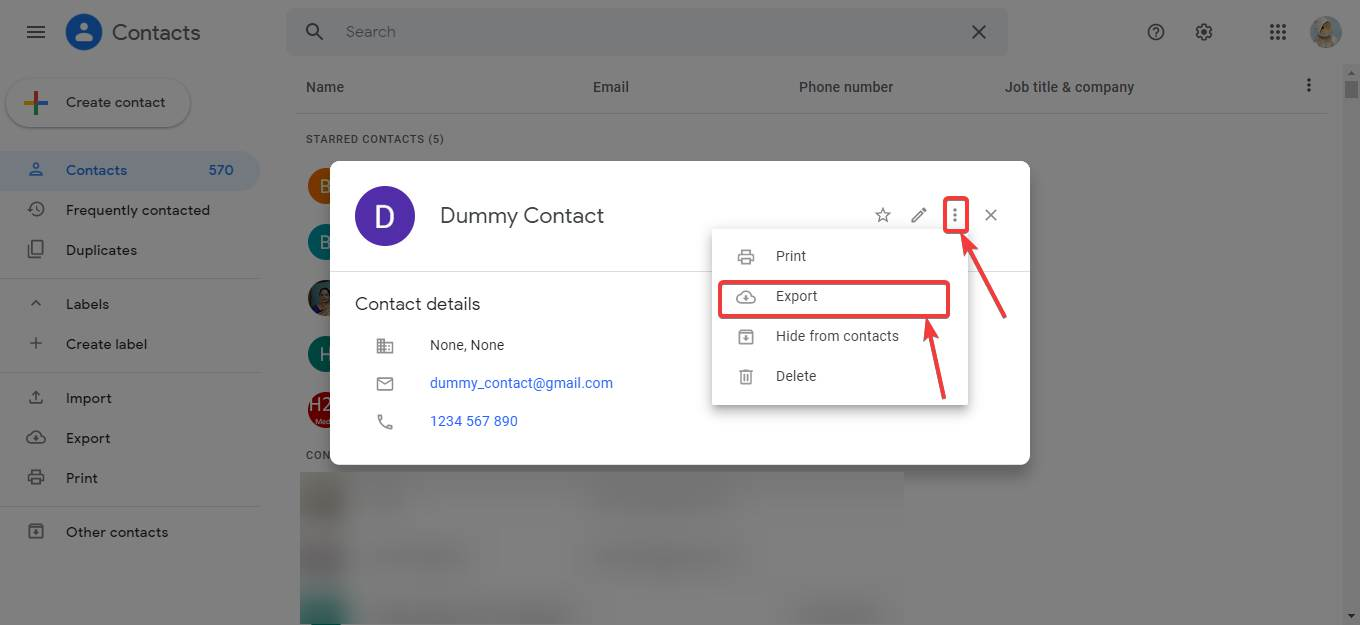 View all your Google Contacts on PC