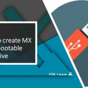 How to create MX Linux bootable USB drive