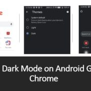 How to turn on Dark mode on ANdroid Google Chrome app