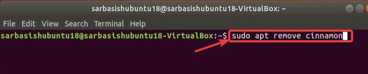 Removing Cinnamon desktop environment from Ubuntu
