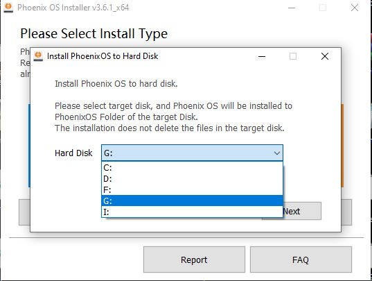 Install Phoenix OS on hard drive parallel to windows 10 or 7