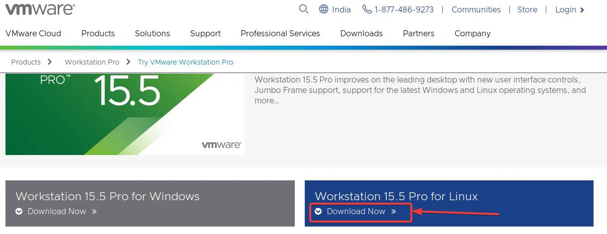 Download VMWare Workstation Pro for Linux
