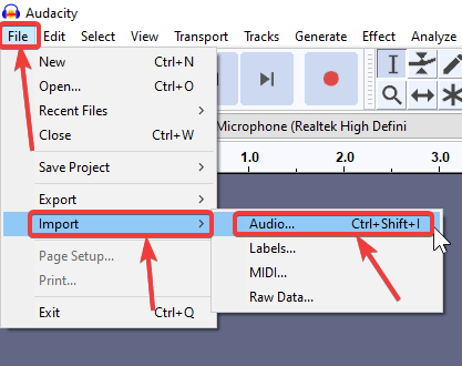Merging multiple audio files to one with Audacity