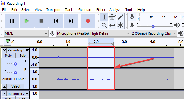 trim out those parts of the audio