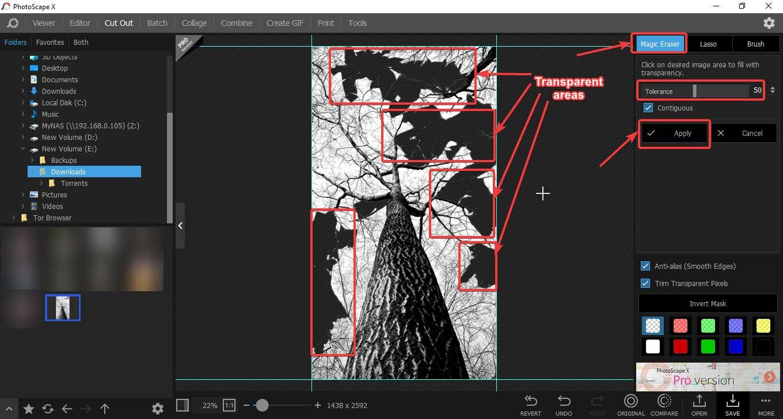 magic eraser tool with Photoscape X 30
