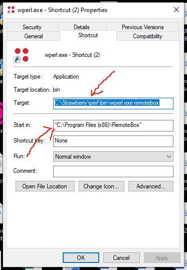 Set target file