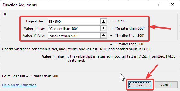 Using IF on Microsoft Excel 400