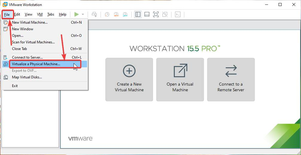 VMware vCenter Converter Standalone Client