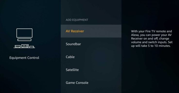 Add Equipment of Firestick 4K