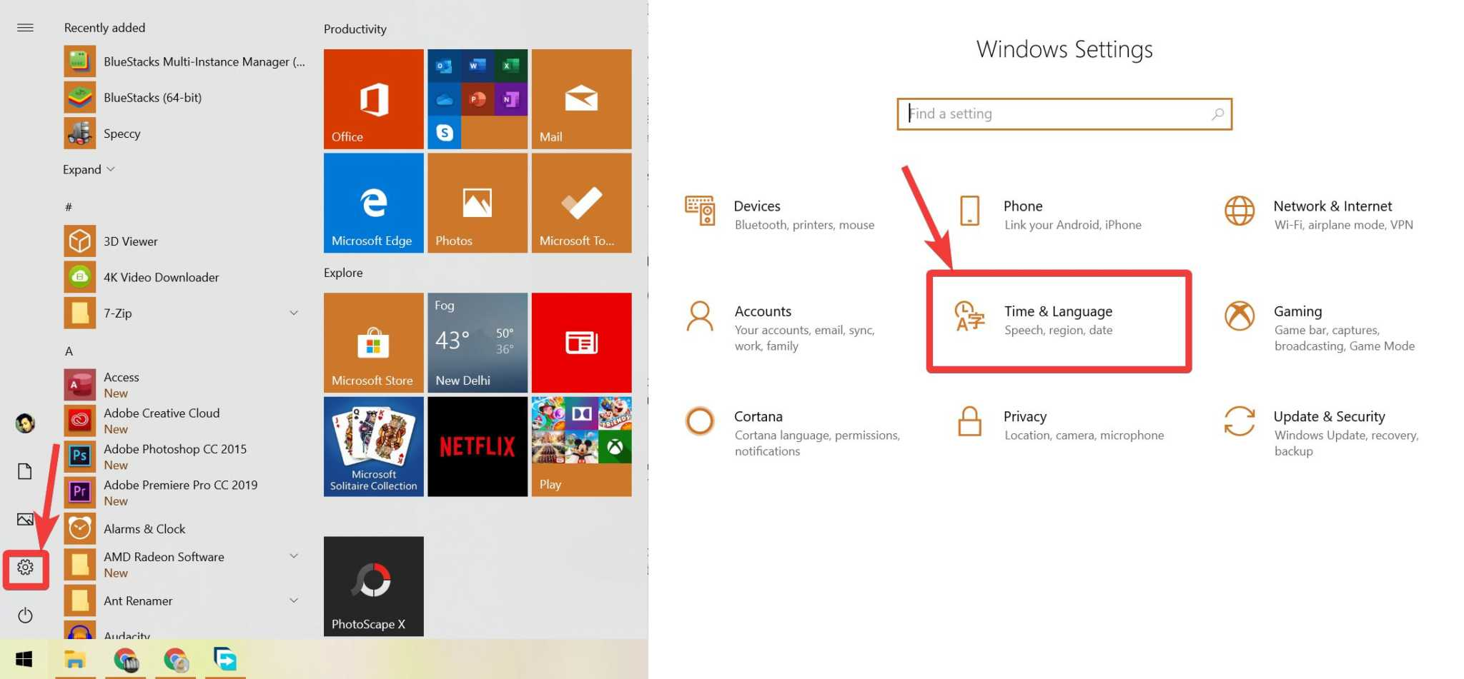 Add new key layout on Windows and Linux 10 20