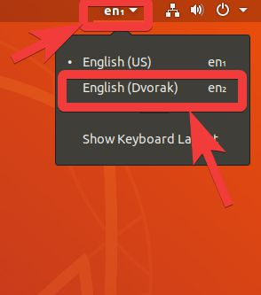 change the language or key layout for typing