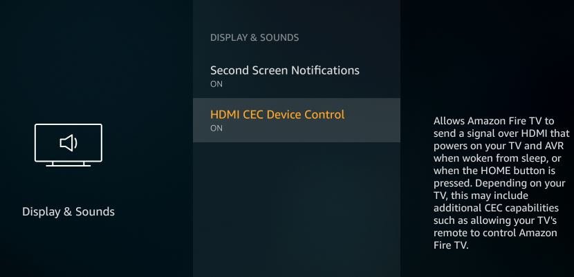 Amazon Firestick HDMI CEC Device Control