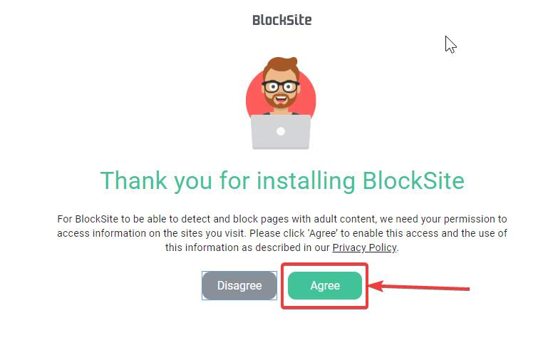 Block Site to access the pages