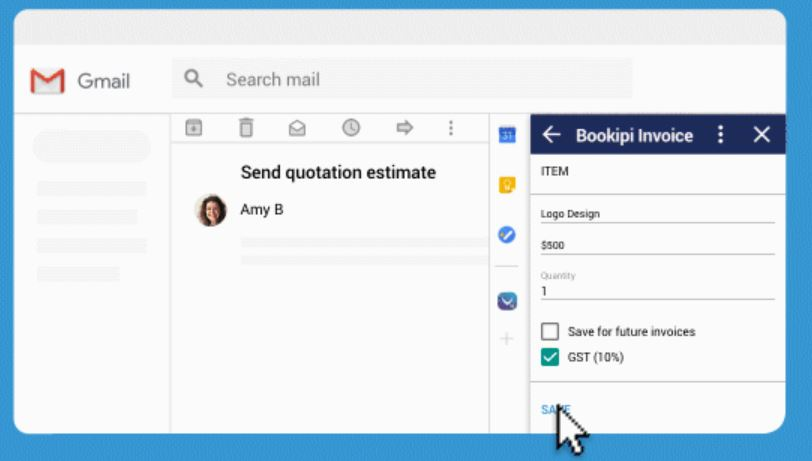 Bookipi for Gmail