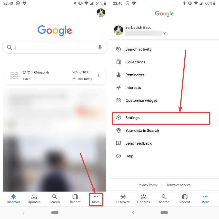 Change voice of Google Digital Assistant 30 40