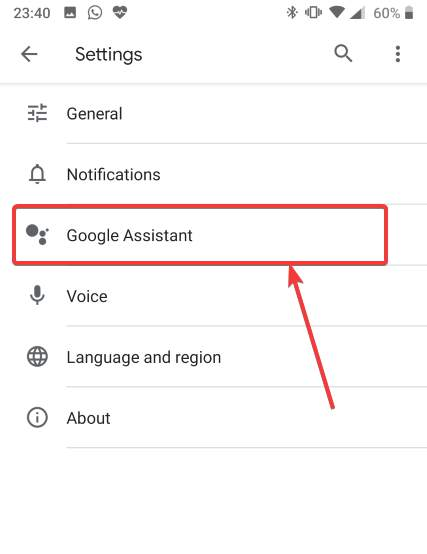 Open Google Assistant Android