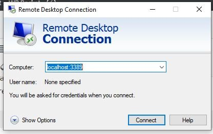 Connect KAli Linux usign Windows 10 Remote Desktop connection-min