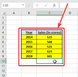 Create charts in Microsoft Excel 10