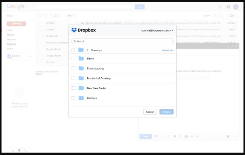 Dropbox extention for GMail