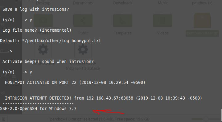 Honeypot for some specific port number-min