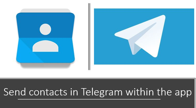 How to send contacts in Telegram within the app