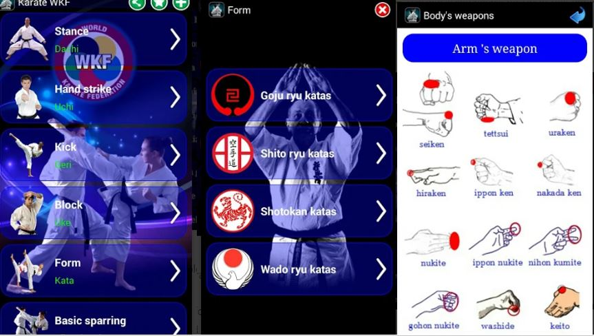 Karate WKF to learn on Android smartphone-min