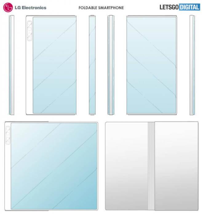 LG-Foldable smartphone Patent desing