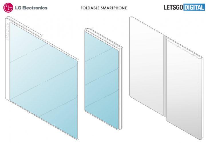 LG Foldable smartphone patent sketch
