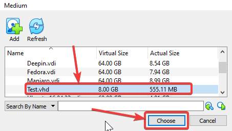 Select Virtual Drive to Mount