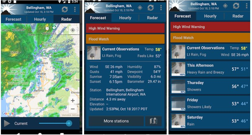 NOAA-Weather-app-and-widget-for-Android