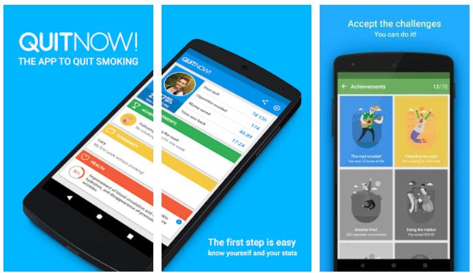 QuitNow Quit smoking app for Android