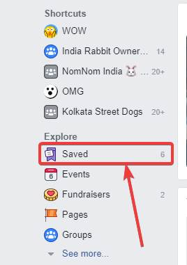 access facebook bookmarks via PC browser