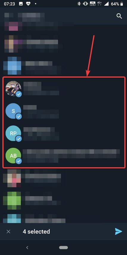 send multiple contacts at once