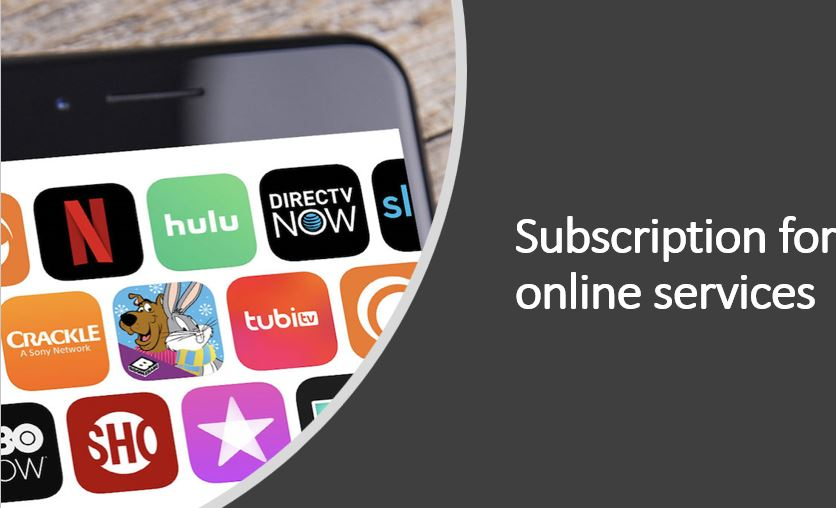 Subscription for online services