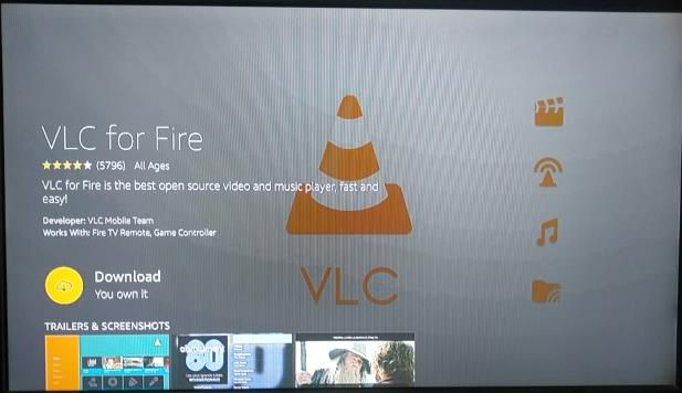 VLC Media Player on Amazon Fire Stick