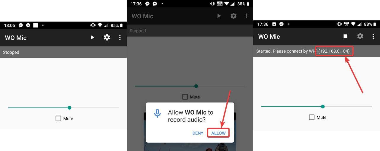 send smartphone audio to PC