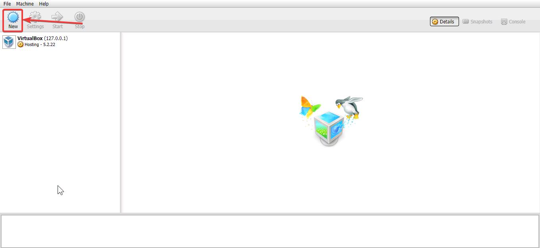 Create New VirtualBox Virtual Machine