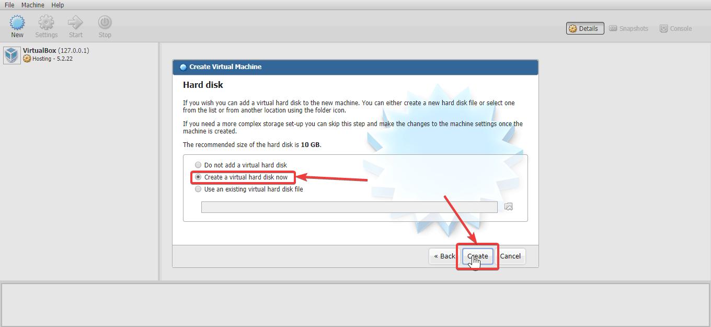 Create Virtual Drive NAS 90