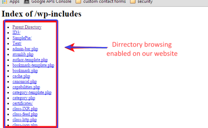 WordPress htaccess-directory-listing -min