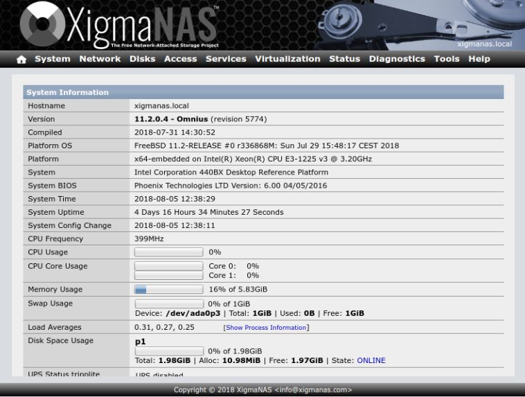 XigmaNAS (anciennement NAS4Free)
