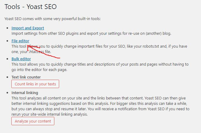 Yoast-SEO-htaccess-file-editor
