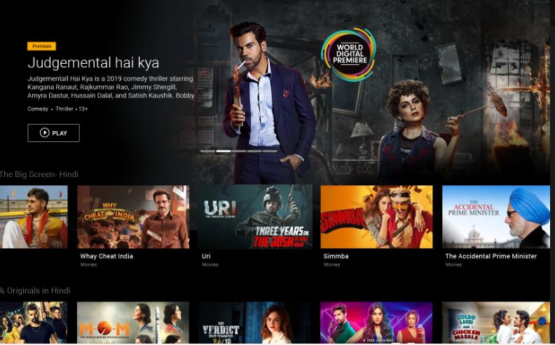 ZEE5 Movies Shows LIVE TV Originals on AQmazon FireStick-min